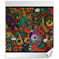 Monsters Colorful Doodle Canvas 8  X 10  by Nexatart