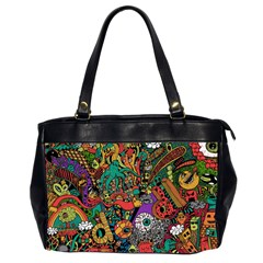 Monsters Colorful Doodle Office Handbags (2 Sides)  by Nexatart