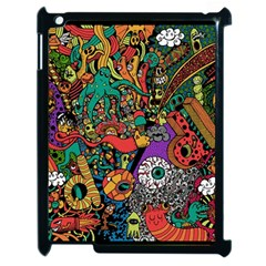Monsters Colorful Doodle Apple Ipad 2 Case (black) by Nexatart