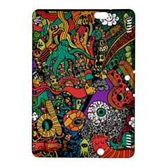Monsters Colorful Doodle Kindle Fire Hdx 8 9  Hardshell Case