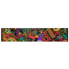 Monsters Colorful Doodle Flano Scarf (small) by Nexatart