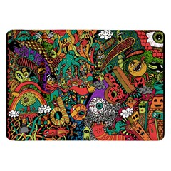 Monsters Colorful Doodle Samsung Galaxy Tab 8 9  P7300 Flip Case by Nexatart