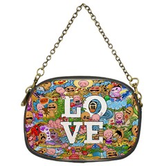 Doodle Art Love Doodles Chain Purses (one Side)  by Nexatart