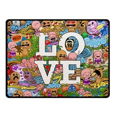 Doodle Art Love Doodles Fleece Blanket (small) by Nexatart