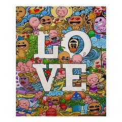Doodle Art Love Doodles Shower Curtain 60  X 72  (medium)  by Nexatart