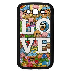 Doodle Art Love Doodles Samsung Galaxy Grand Duos I9082 Case (black) by Nexatart