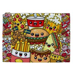 Cute Food Wallpaper Picture Cosmetic Bag (xxl)  by Nexatart