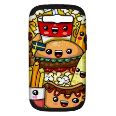 Cute Food Wallpaper Picture Samsung Galaxy S Iii Hardshell Case (pc+silicone) by Nexatart
