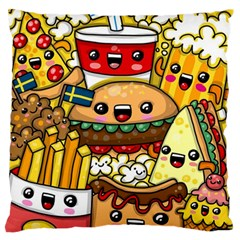 Cute Food Wallpaper Picture Large Flano Cushion Case (two Sides) by Nexatart