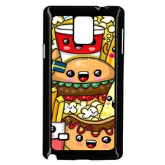 Cute Food Wallpaper Picture Samsung Galaxy Note 4 Case (black) by Nexatart