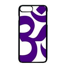 Hindu Om Symbol (purple) Apple Iphone 7 Plus Seamless Case (black) by abbeyz71