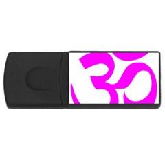 Hindu Om Symbol (magenta) Usb Flash Drive Rectangular (4 Gb) by abbeyz71