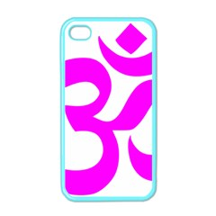 Hindu Om Symbol (magenta) Apple Iphone 4 Case (color) by abbeyz71