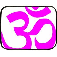 Hindu Om Symbol (magenta) Fleece Blanket (mini) by abbeyz71