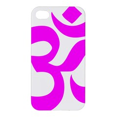 Hindu Om Symbol (magenta) Apple Iphone 4/4s Premium Hardshell Case by abbeyz71
