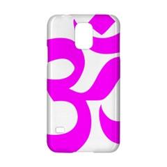 Hindu Om Symbol (magenta) Samsung Galaxy S5 Hardshell Case  by abbeyz71
