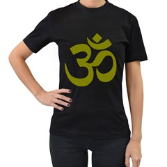 Hindi Om Symbol (olive) Women s T Shirt (black) by abbeyz71