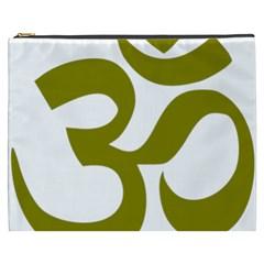 Hindi Om Symbol (olive) Cosmetic Bag (xxxl)  by abbeyz71