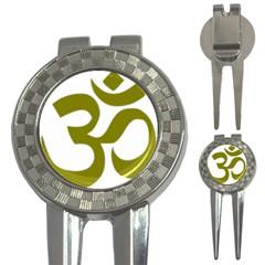 Hindu Om Symbol (olive) 3 In 1 Golf Divots by abbeyz71