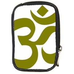 Hindu Om Symbol (olive) Compact Camera Cases by abbeyz71