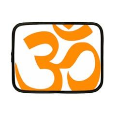 Hindu Om Symbol (orange) Netbook Case (small)  by abbeyz71