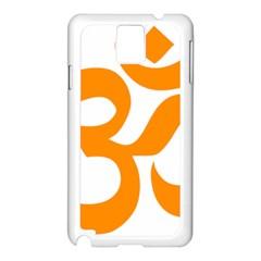Hindu Om Symbol (orange) Samsung Galaxy Note 3 N9005 Case (white) by abbeyz71