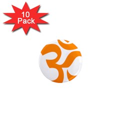 Hindu Om Symbol (orange) 1  Mini Magnet (10 Pack)  by abbeyz71