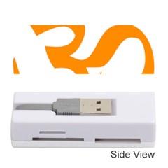 Hindu Om Symbol (orange) Memory Card Reader (stick)  by abbeyz71