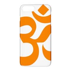 Hindu Om Symbol (orange) Apple Iphone 7 Plus Hardshell Case by abbeyz71