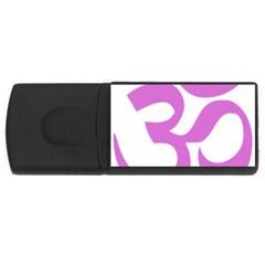 Hindu Om Symbol (bright Purple) Usb Flash Drive Rectangular (4 Gb) by abbeyz71