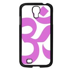 Hindu Om Symbol (bright Purple) Samsung Galaxy S4 I9500/ I9505 Case (black) by abbeyz71