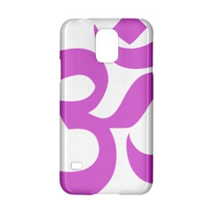 Hindu Om Symbol (bright Purple) Samsung Galaxy S5 Hardshell Case  by abbeyz71