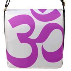 Hindu Om Symbol (bright Purple) Flap Messenger Bag (s) by abbeyz71