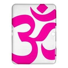 Hindu Om Symbol (pink) Samsung Galaxy Tab 4 (10 1 ) Hardshell Case  by abbeyz71