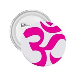 Hindu Om Symbol (pink) 2 25  Buttons by abbeyz71