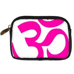Hindu Om Symbol (Pink) Digital Camera Cases
