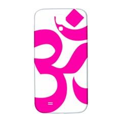 Hindu Om Symbol (pink) Samsung Galaxy S4 I9500/i9505  Hardshell Back Case by abbeyz71