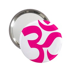 Hindu Om Symbol (deep Pink) 2 25  Handbag Mirrors by abbeyz71