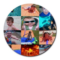 Family  Round Mousepad by kravedesignsupport