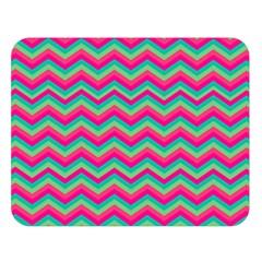 Retro Pattern Zig Zag Double Sided Flano Blanket (large)  by Nexatart