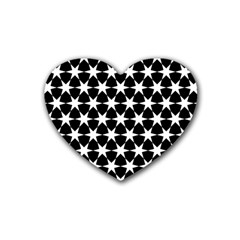Star Egypt Pattern Rubber Coaster (heart)  by Nexatart