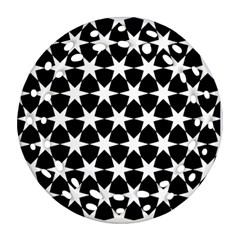 Star Egypt Pattern Round Filigree Ornament (two Sides) by Nexatart
