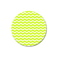 Chevron Background Patterns Magnet 3  (round) by Nexatart