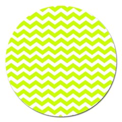 Chevron Background Patterns Magnet 5  (round) by Nexatart
