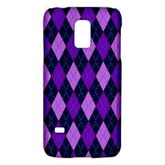 Static Argyle Pattern Blue Purple Galaxy S5 Mini by Nexatart