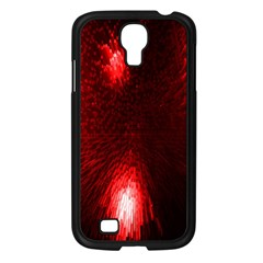 Box Lights Red Plaid Samsung Galaxy S4 I9500/ I9505 Case (black) by Mariart