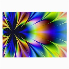 Bright Flower Fractal Star Floral Rainbow Large Glasses Cloth by Mariart