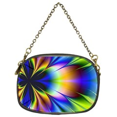 Bright Flower Fractal Star Floral Rainbow Chain Purses (one Side)  by Mariart