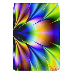 Bright Flower Fractal Star Floral Rainbow Flap Covers (s)  by Mariart