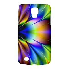 Bright Flower Fractal Star Floral Rainbow Galaxy S4 Active by Mariart